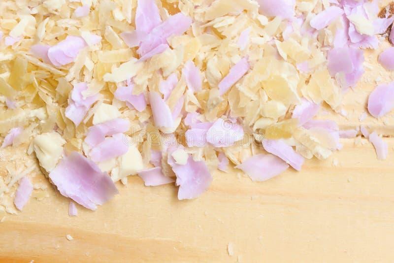 asmr Σαπούνι περικοπών Χαλαρώστε Σύσταση των ξεσμάτων σαπουνιών στοκ εικόνα με δικαίωμα ελεύθερης χρήσης