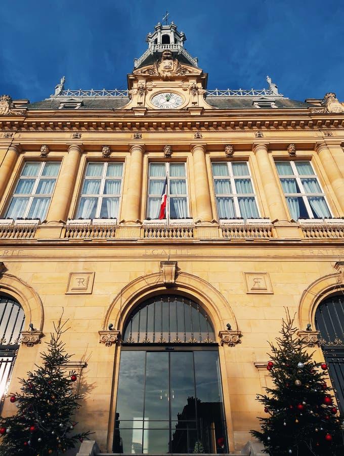 Asnières stadshus royaltyfria bilder