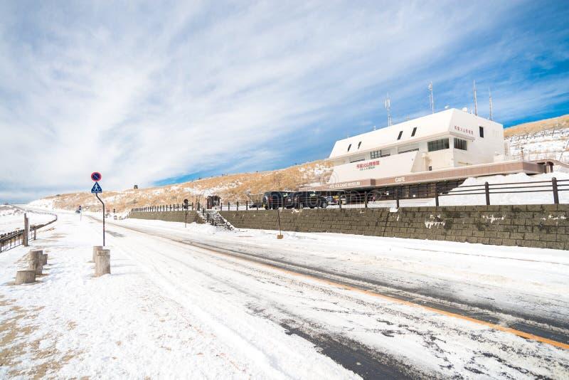 Aso Aso kusasenri的,冬天火山博物馆 免版税库存图片