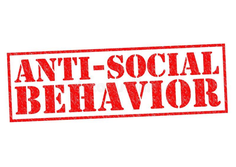 asociaal gedrag vector illustratie