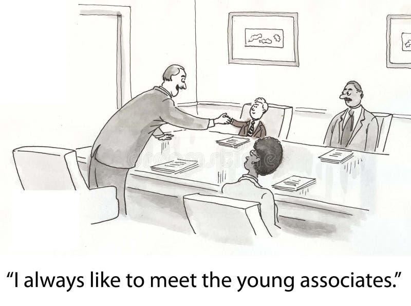 Asociados jovenes ilustración del vector