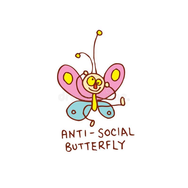 Asociale vlinder vector illustratie