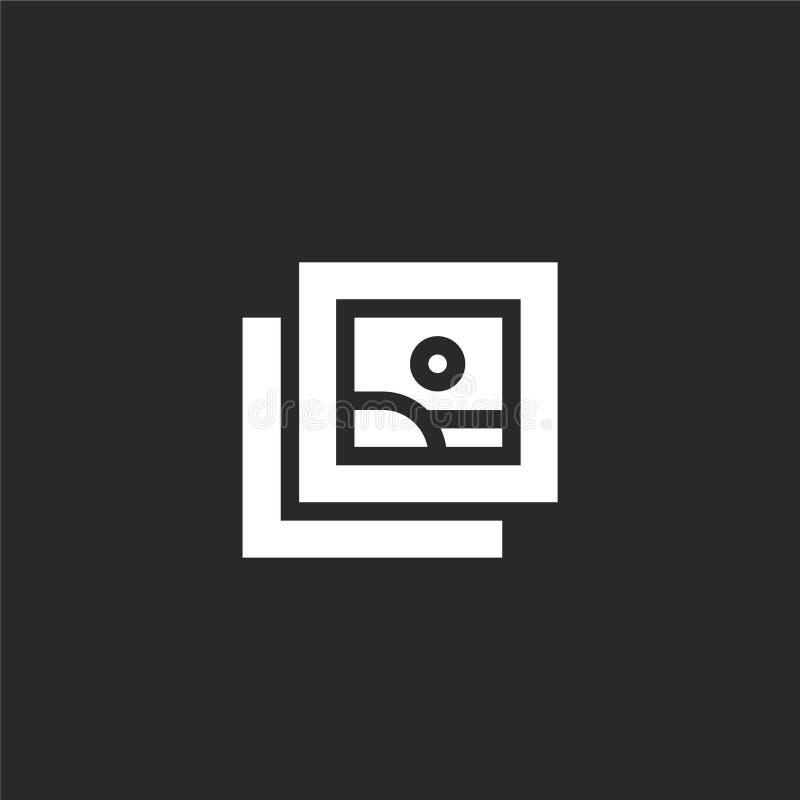 Asocie el icono Icono llenado de la fijación para el diseño y el móvil, desarrollo de la página web del app icono de la fijación  libre illustration