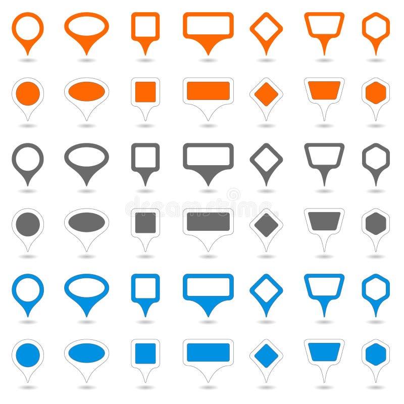 Asocie los punteros ilustración del vector