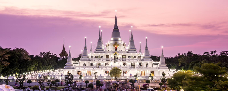 Asokaram de Wat del templo de Prang fotografía de archivo libre de regalías