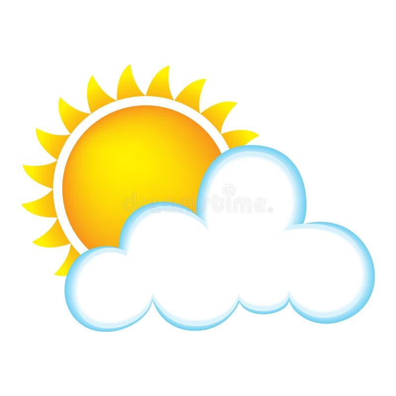 Asoleado con las nubes stock de ilustración