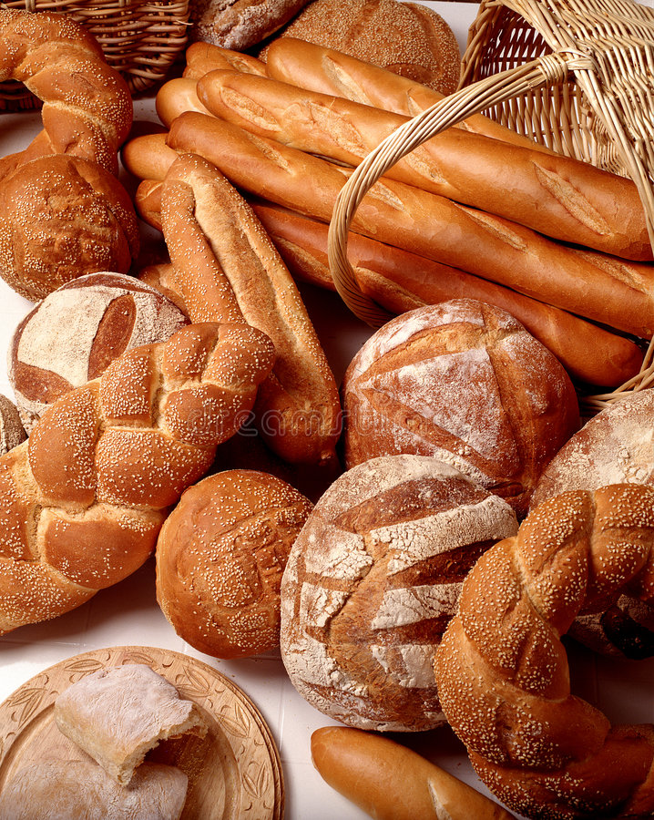 Asortment of Breads stock image