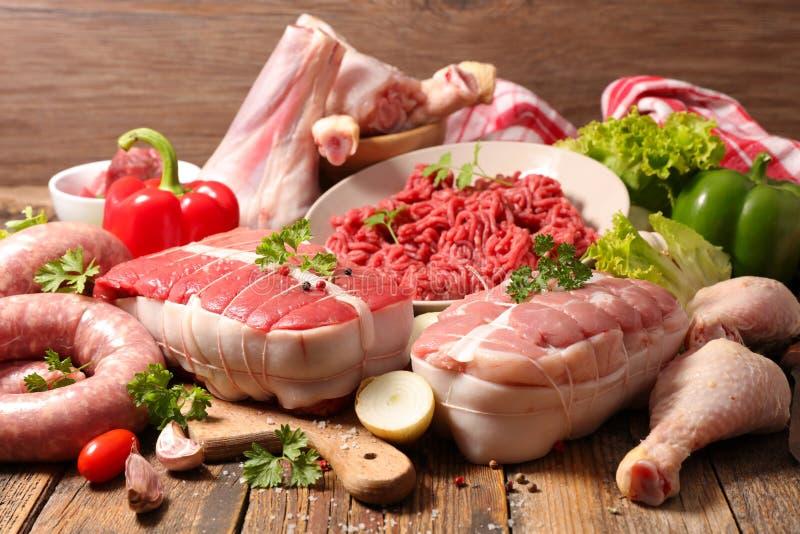Asortowana rozmaitość mięso zdjęcia royalty free