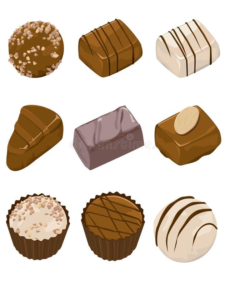 asortowane czekolady ilustracji