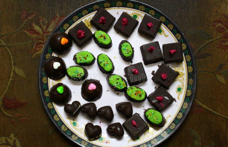 Asortowane domowe robić czekolady obraz stock