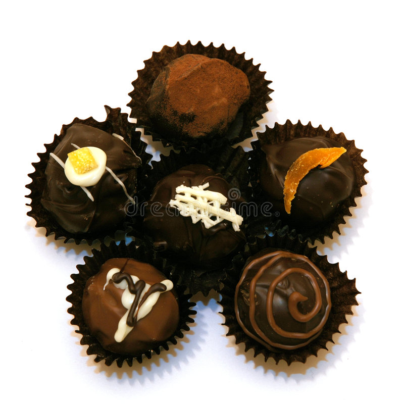 asortowane trufle czekoladę obrazy royalty free