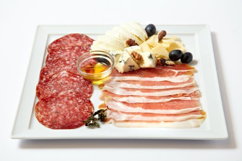 Asortowani delikatesów mięsa, ser i obraz royalty free