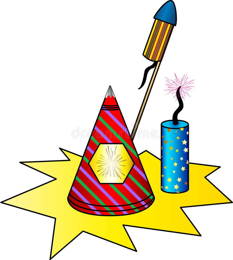 Asortowani fajerwerki royalty ilustracja