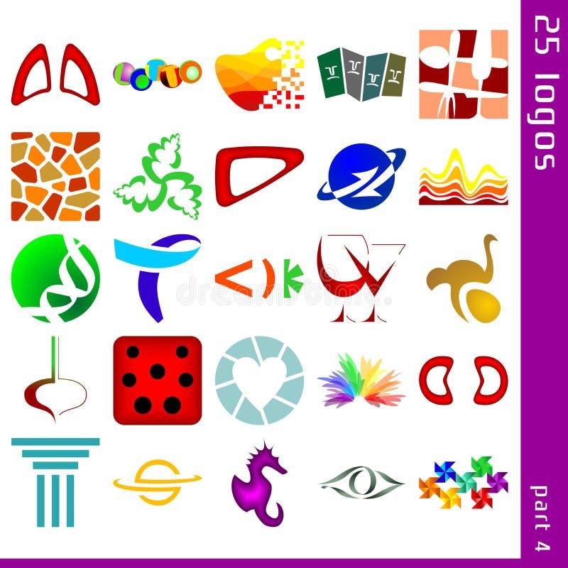 Asortowani logowie 4 zdjęcie royalty free