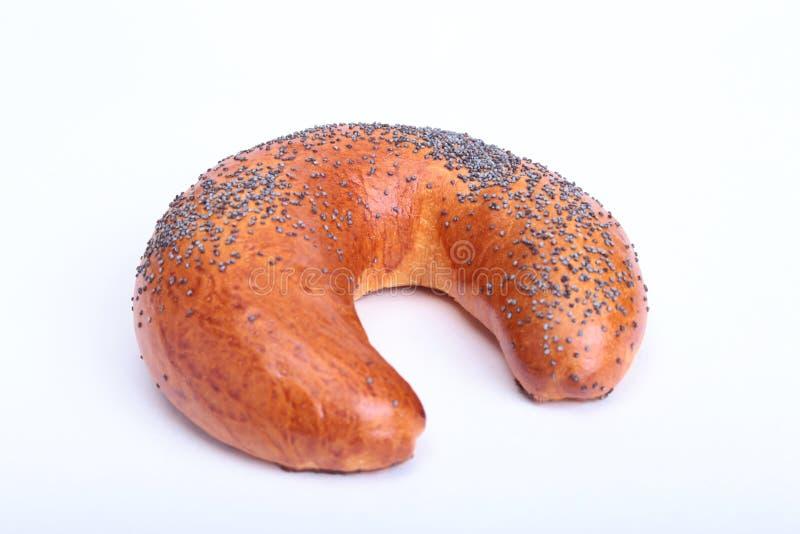 Asortowany Świeży domowej roboty chleb na białym tle Selekcyjna ostrość zdjęcia stock