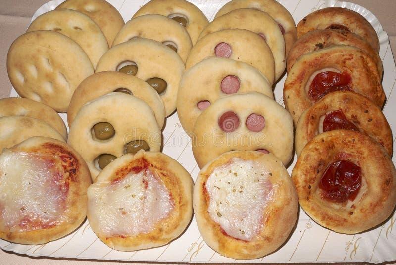 Asortowany focaccia i pizza zdjęcia stock