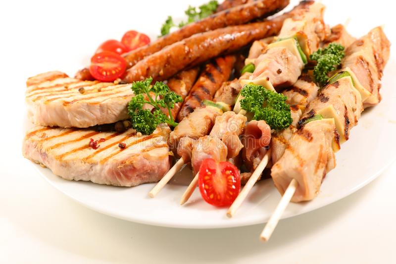Asortowany grilla mięso fotografia stock
