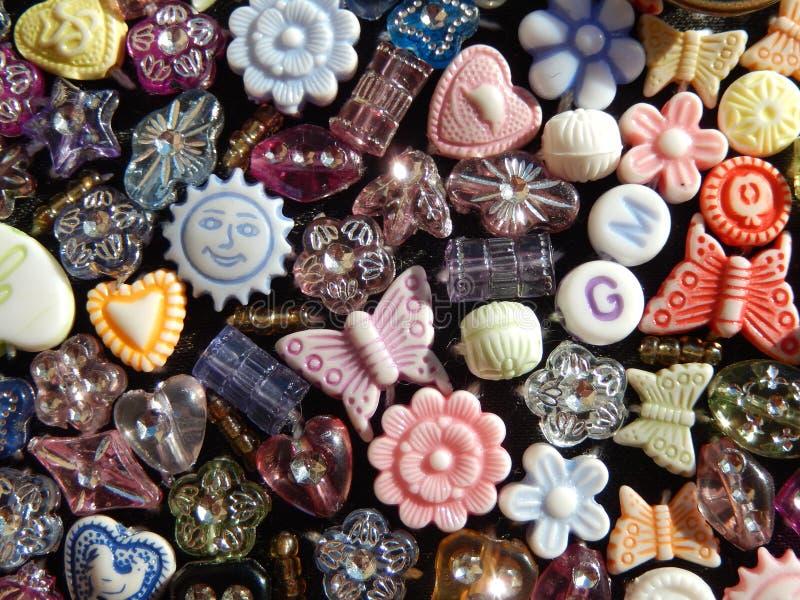 Asortowany koralika tła wizerunek zdjęcie stock