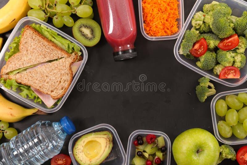 Asortowany lunchu pudełko obraz royalty free