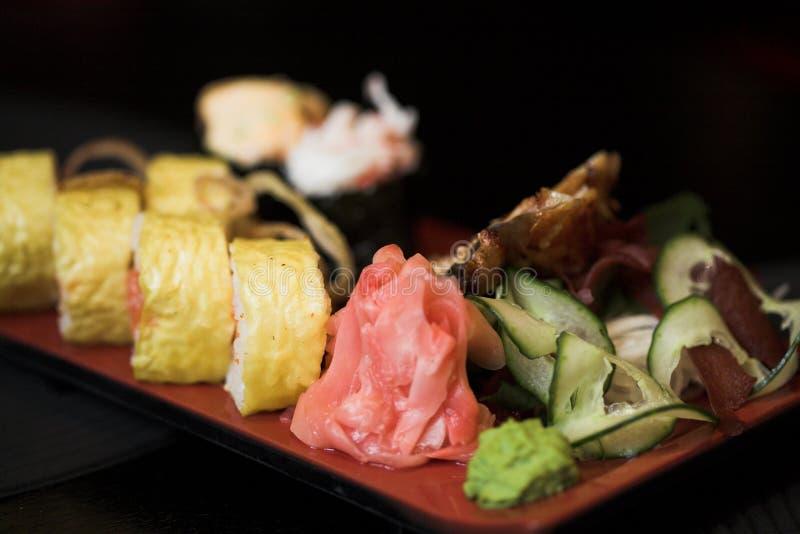 asortowany lunchu sushi zdjęcia stock