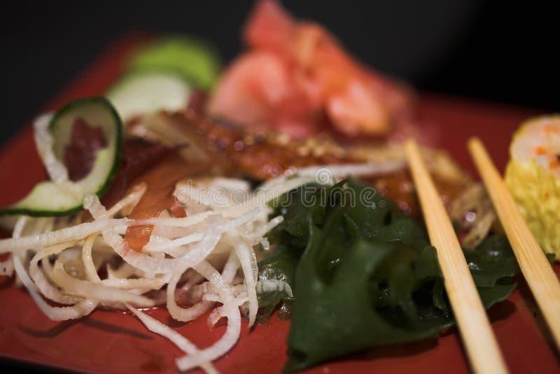 asortowany lunchu sushi zdjęcie stock