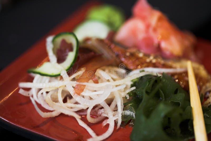asortowany lunchu sushi fotografia stock