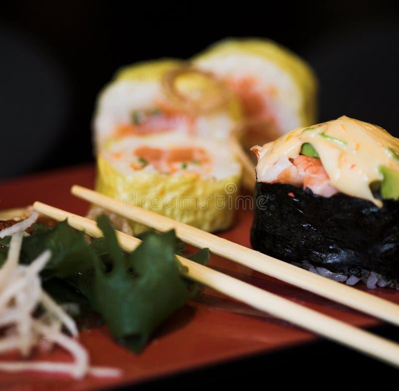 asortowany lunchu sushi zdjęcie royalty free