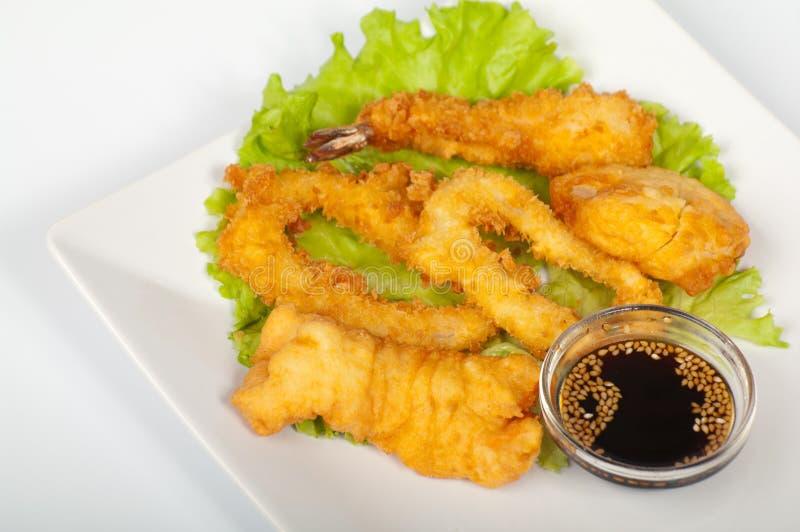 asortowany tempura obraz stock