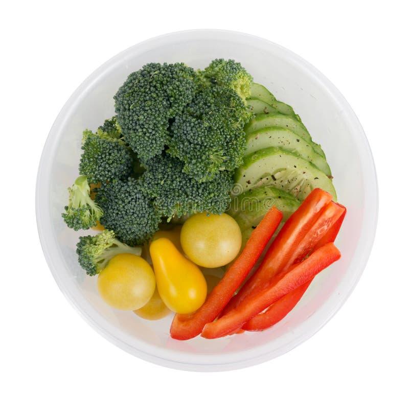 Asortowany veggie puchar dla lunchu obraz stock