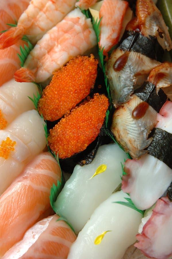 asortowany walcowane sushi fotografia stock