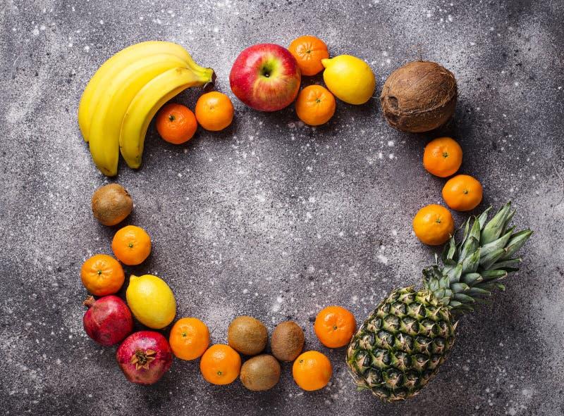 Asortyment świeże tropikalne owoc fotografia royalty free
