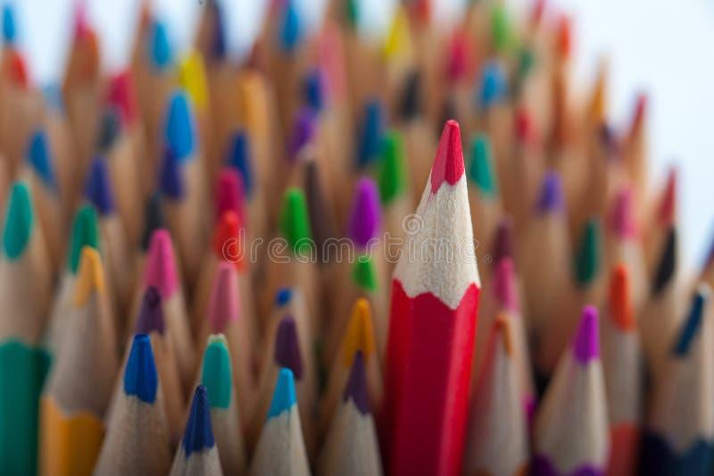 Asortyment kolorowy ołówka tło obraz stock