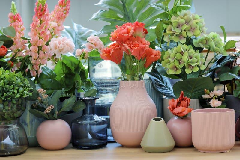 Asortyment kwiat w garnku obrazy royalty free