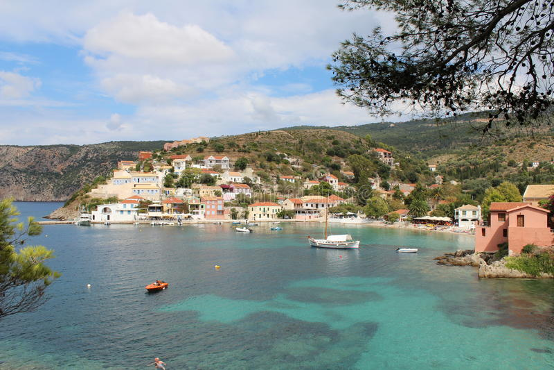 Asos Kefalonia Greece royalty free stock photo