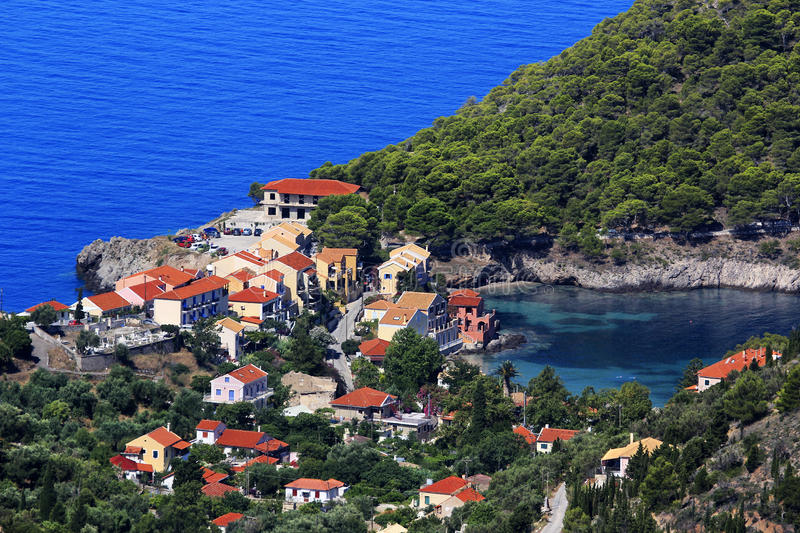 Asos village, Cephalonia stock photo