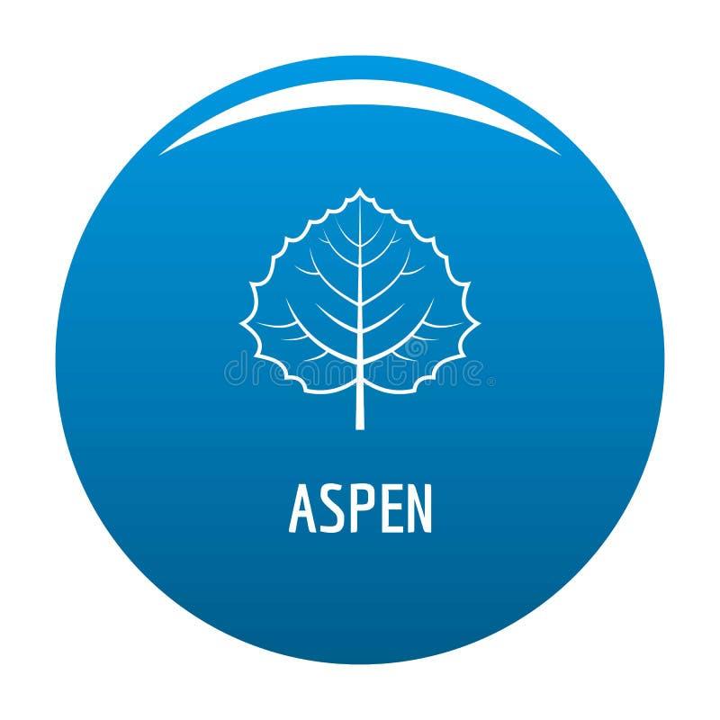 Asp- bladsymbolsblått stock illustrationer