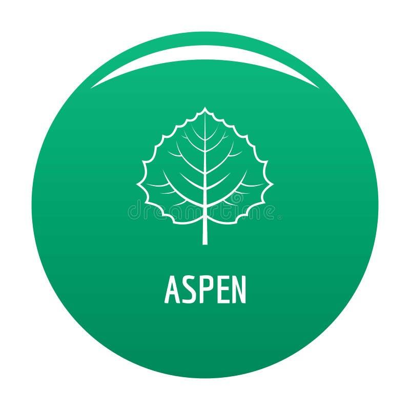 Asp- gräsplan för bladsymbolsvektor royaltyfri illustrationer