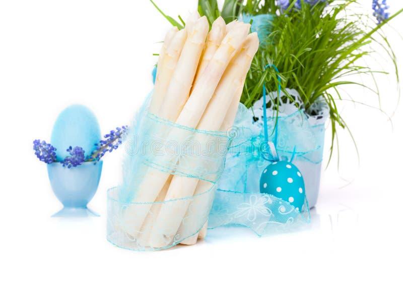 Asparago, decorazione di Pasqua fotografia stock libera da diritti