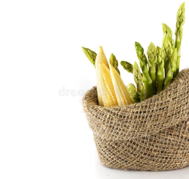 Asparago e cereale fotografia stock libera da diritti