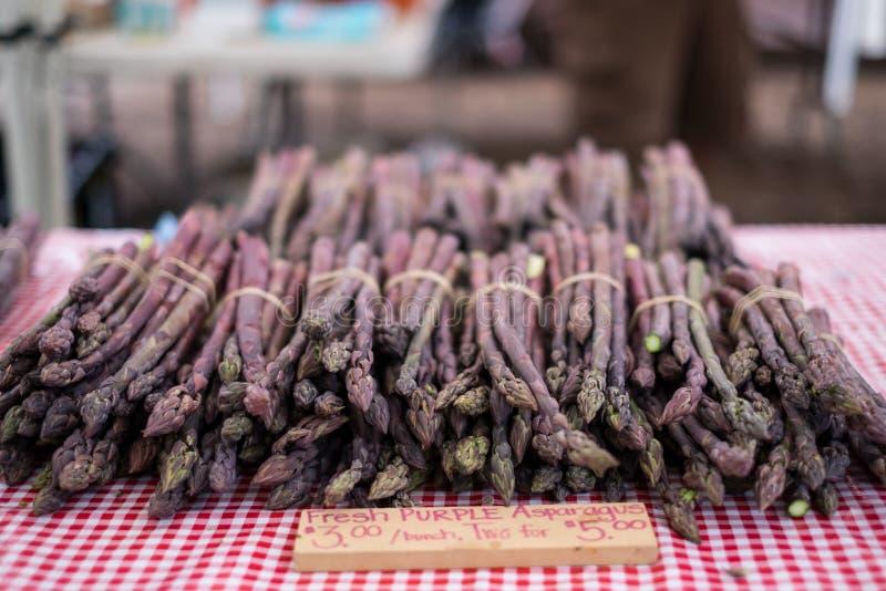 Asparago viola fotografie stock
