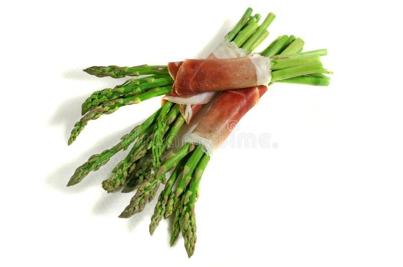 asparagus 1 prosciutto fotografia stock