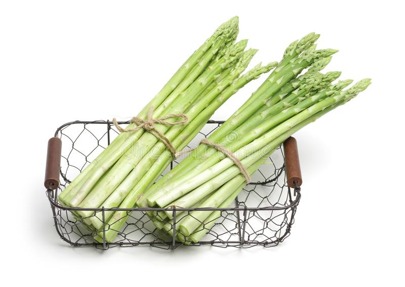 Asparagus. Isolated on white background stock image