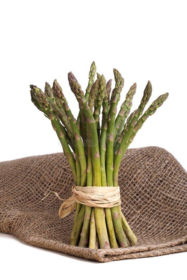 Asparagus bundle royalty free stock photography