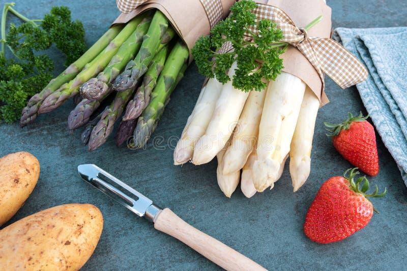 Asparagus season royalty free stock images