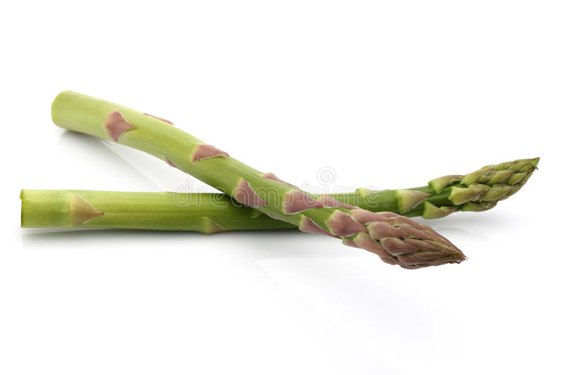 Asparagus. Isolated on white background royalty free stock images
