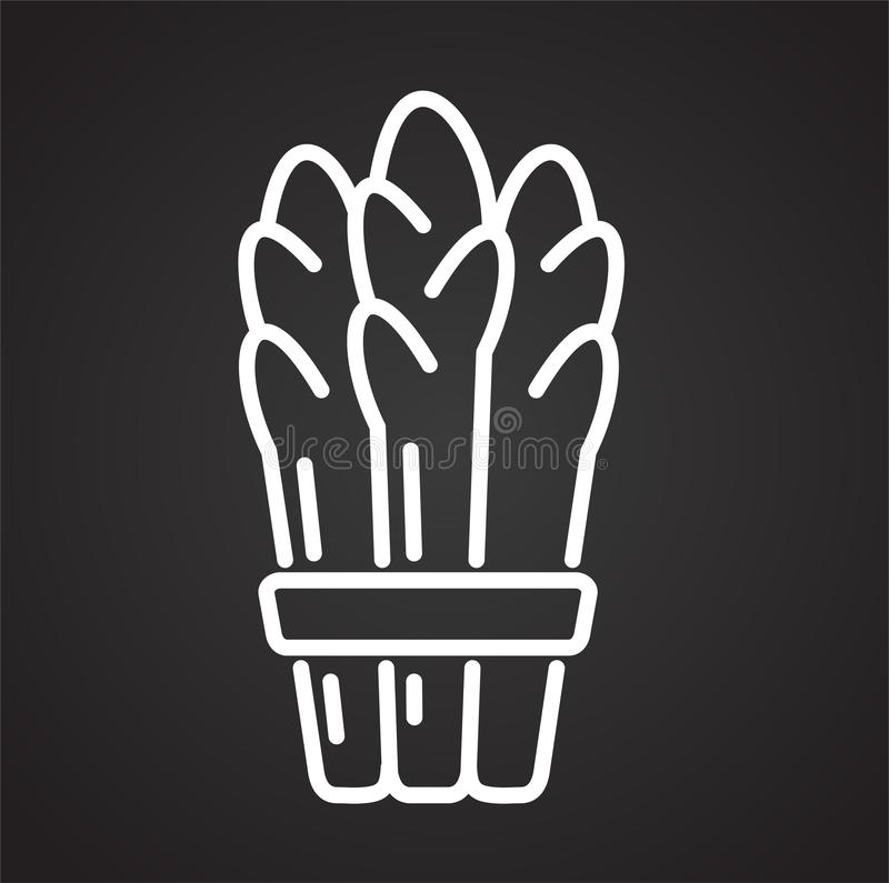 Asparagus line icon on black background for graphic and web design, Modern simple vector sign. Internet concept. Trendy symbol for vector illustration