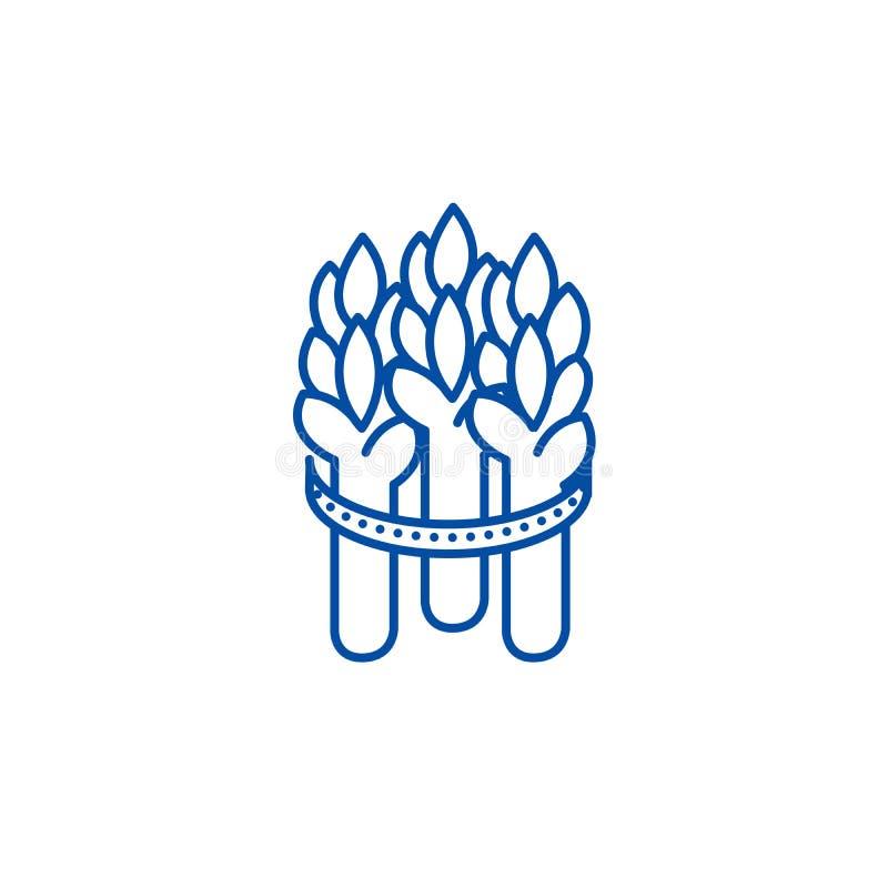 Asparagus line icon concept. Asparagus flat  vector symbol, sign, outline illustration. vector illustration