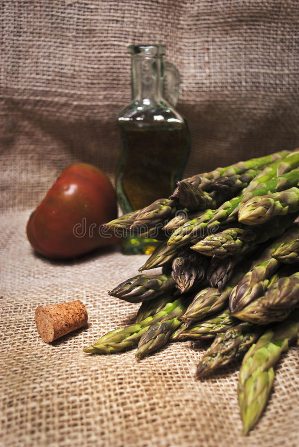 Download Asparagus and oil stock image. Image of extra, life, bottle - 14126159