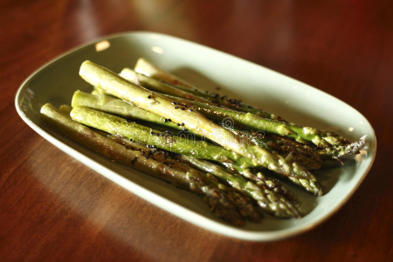 Download Asparagus on plate stock image. Image of nutrition, indoor - 14618741