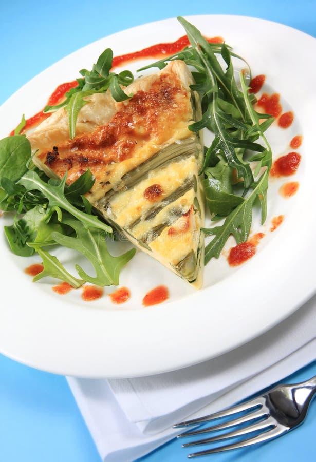 asparagus quiche zdjęcia stock